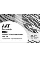 AAT (AQ2016) Level 2 Bookkeeping Controls Passcards 2019